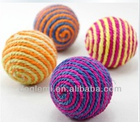 FREE SHIPPING!!!Sisal Ball Cat Toys Pet Toys Pet Toys Scratching Random Colored Balls