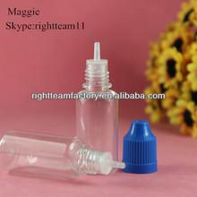 ISO8317&SGS&TUV certificate pet 15 ml plastic dropper bottle for eliquid/ejuice