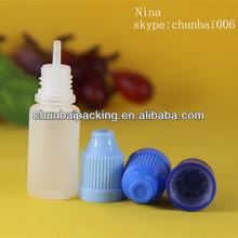 ISO8317 10ml pe engine oil plastic bottle for e-cig
