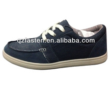 Navy color latest design canvas shoes custom made canvas sneakers sewing upper for men daily wearing breathable and comfortable