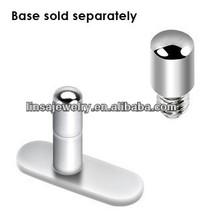 316L Surgical Steel Body Jewelry 2mm Micro Dermal Healing Post