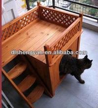 2014 Hot Sale Wooden Cat House/Cat Cage/Pet House