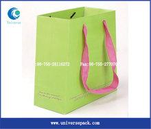 Fashion green paper bag th handle