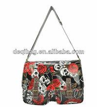 Wholesale and Quality fashion floral Skulls designed handbag ladies bag women bag