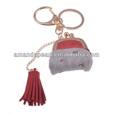 Promotional Gift Lady Handbag Keyring Red and Silver