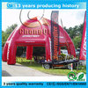 Inflatable air dome tent, inflatable air dome tent structure