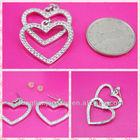 Low Price 2014 Fashion Earrings Jewellery,Personality Heart Earrings,Yiwu Wholesale Earrings