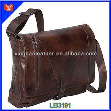 Men's Vintage Leather Military Shoulder Messenger Bag 17 inch laptop messenger bag,large messenger bag,design your own bag