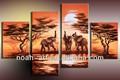 moderno 2015 elefantes grupo pinturas al óleo en la pared