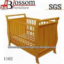 unique sleigh design wooden baby cribs