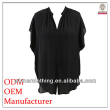Autumn New Style Export Garment barwing sleeves chiffon casual best price direct factory fashion blouse