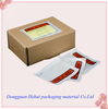 custom invoice document packing slip enclosed pouch