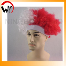 world cup poland crazy fan wig