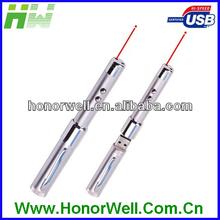 Pen shape usb flash drive torchlight for hot sell free logo