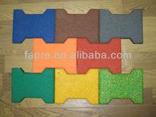 Interlocking Rubber Brick, Horse Rubber Pavers,Dog-bone Rubber Brick