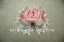 boutique grosgrain kids rose flower fancy dress