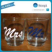 Wholesale Shot Glass Cup Manufacture Couples Shot Glassware