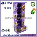 Heißer verkauf karton boden-display-racks/steht für snickers süßigkeiten oder Schokolade