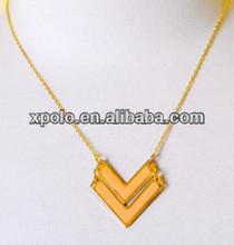 "Wholesale Fashion gold plated arrow direction ""V"" shape charm neckalce"