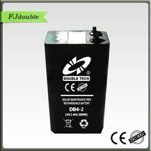 sealed 4v 2ah rechargeable lead acid battery