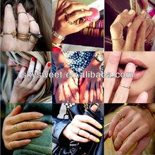 Frete grátis jóias alibaba, new bom barato anéis anéis simples moda