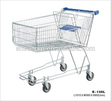 NEW DESIGN american cheap shopping trolley with 135L