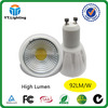 Ceramic 220 volt dimmable led lights 7w 820lm gu10 lamp led light china direct price