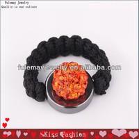 2013 Hot Sale Crystal Ball Shamballa Rings Beaded Rings FBR012