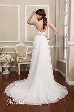 2014 Elegantes Spaghetti fiel zu Boden Perlen Sweep Zug Brautkleide rallure wedding dress bride dresses