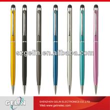 Capacitive touch screen pen with ball pen