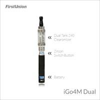 Firstunion new-fangled safest electronic cigarette iGo4M dual 650 mAh/1000 puffs la sigaretta elettronica