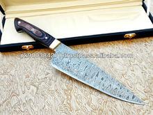 Custom made Damascus Steel Chef Knife