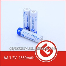 torch light rechargeable battery GLE AA 2550mAh NIMH