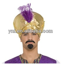Desert Prince Gold Turban Hat Party/Halloween Costume Decoration/Accessories