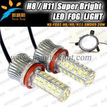 High power 20w auto led fog lamp H8 H9 H11 base led fog light for atv suv motrocycle truck 4 x4 offroad