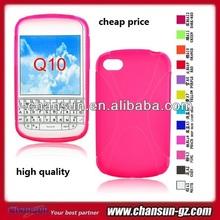 belt X line gel TPU case for blackberry q10 soft back case cover