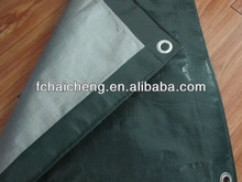 green/silver ready made pe tarp cover for popular cover