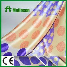 Woven 100 Polyester Polka Dots Printed Bulk Satin Fabric