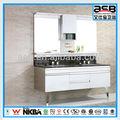 tampo de mármore açoinoxidável dupla pia do banheiro vaidades