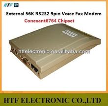 full test customized OEM/ODM 56K External Voice 9pin desktop plastic case universal gsm modem rs232 fax low cost