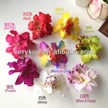 Bridal Colorful Hawaiian Double Thailand Orchid Flowers Hair Clip