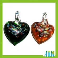 2014 Newest Plump Heart Murano Lampwork Glass Pendant