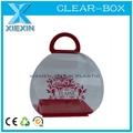 Limpar caixa oem acetato de plástico alças para caixas