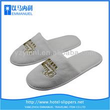 White coral velvet comfy hotel slippers bathroom