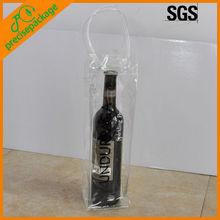 durable Clear Plastic PVC wine bottle bag