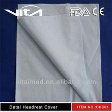 Disposable dental headrest cover/sleeve