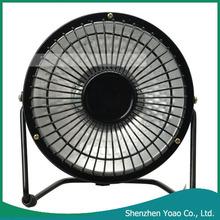 "613 4"" Practical Metal Mini Heater Black"