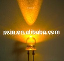 10-20pcs free sample available 8mm yellow led round
