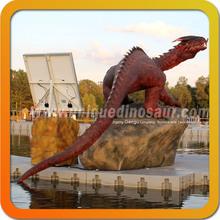 Hot Sale Customized Animal Statue Realistic Fiberglass Dragon