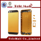 Hot sale full fix for iphone 5 24k gold plating back cover